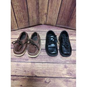 Sperry Boys Bundle 2 Pairs Dress Shoes Size 8.5